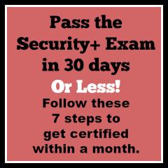 Pass the Security+ Exam