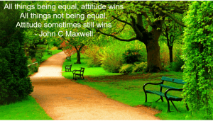 All things being equal, attitude wins.