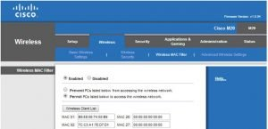 Wireless Access Point Configuration Settings