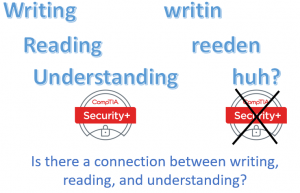 Is there a connection between writing, reading, and understanding?